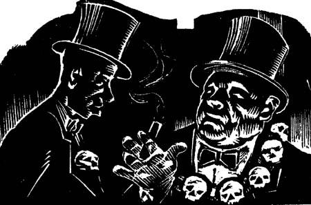 ranklin D. Roosevelt denounced the heartless rich. Art by Victor Arnautoff