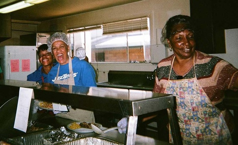 """""""Food Served with Love."""" When I was homeless, I needed to be treated like a human being and offered a life preserver so I would not die on the streets. Keith Arivnwine photo"""