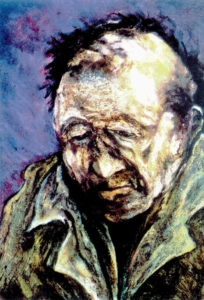 Living for years on the harsh and unforgiving streets often ages people prematurely. Art by Lenny Silverberg