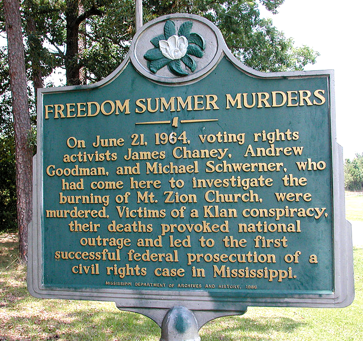 """""""Freedom Summer Murders."""" Civil rights activists James Chaney, Andrew Goodman and Michael Schwerner in Mississippi, victims of  Klan conspiracy."""