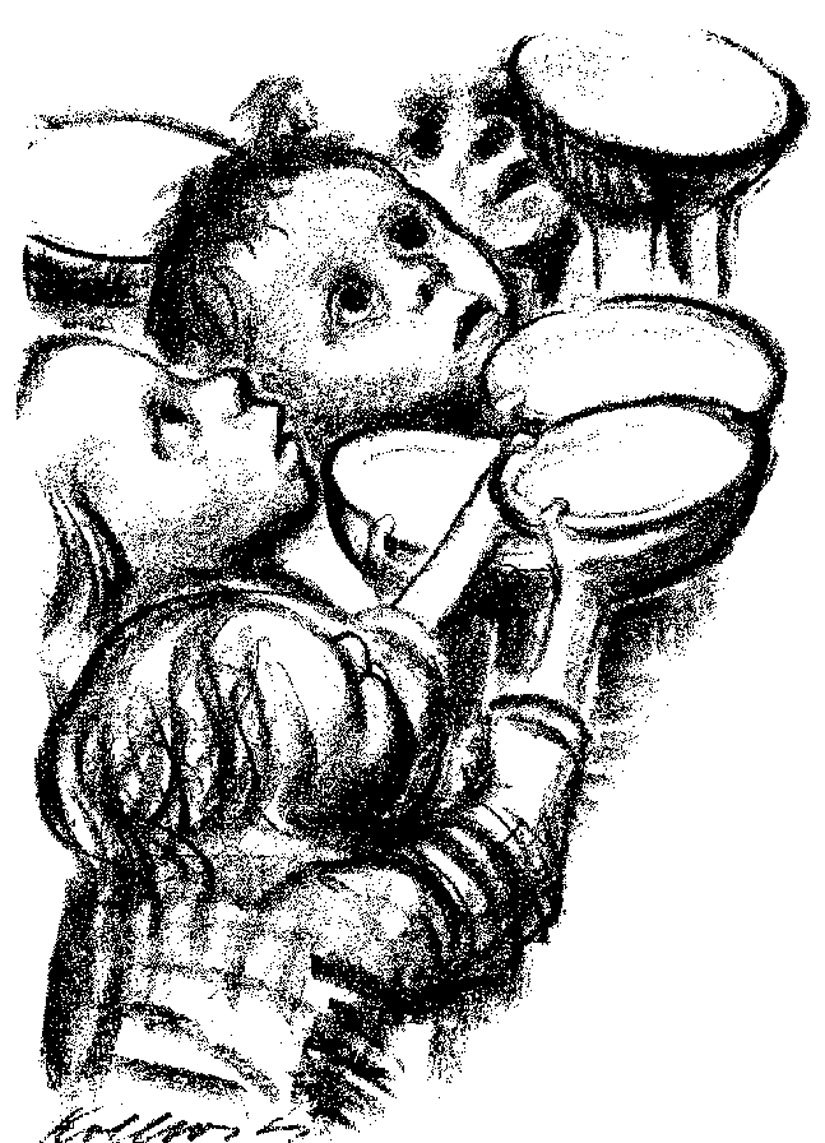 """The Children Are Starving."" Art by Kaethe Kollwitz, lithograph, 1924"