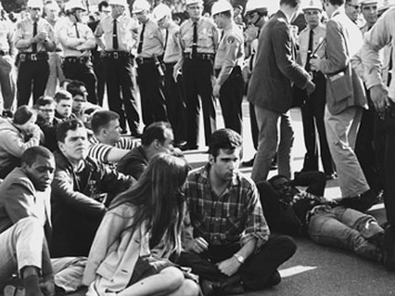 These marchers were surrounded by Montgomery police as the Selma to Montgomery march ended in March 1965. Photo: Alabama Department of Archives and History