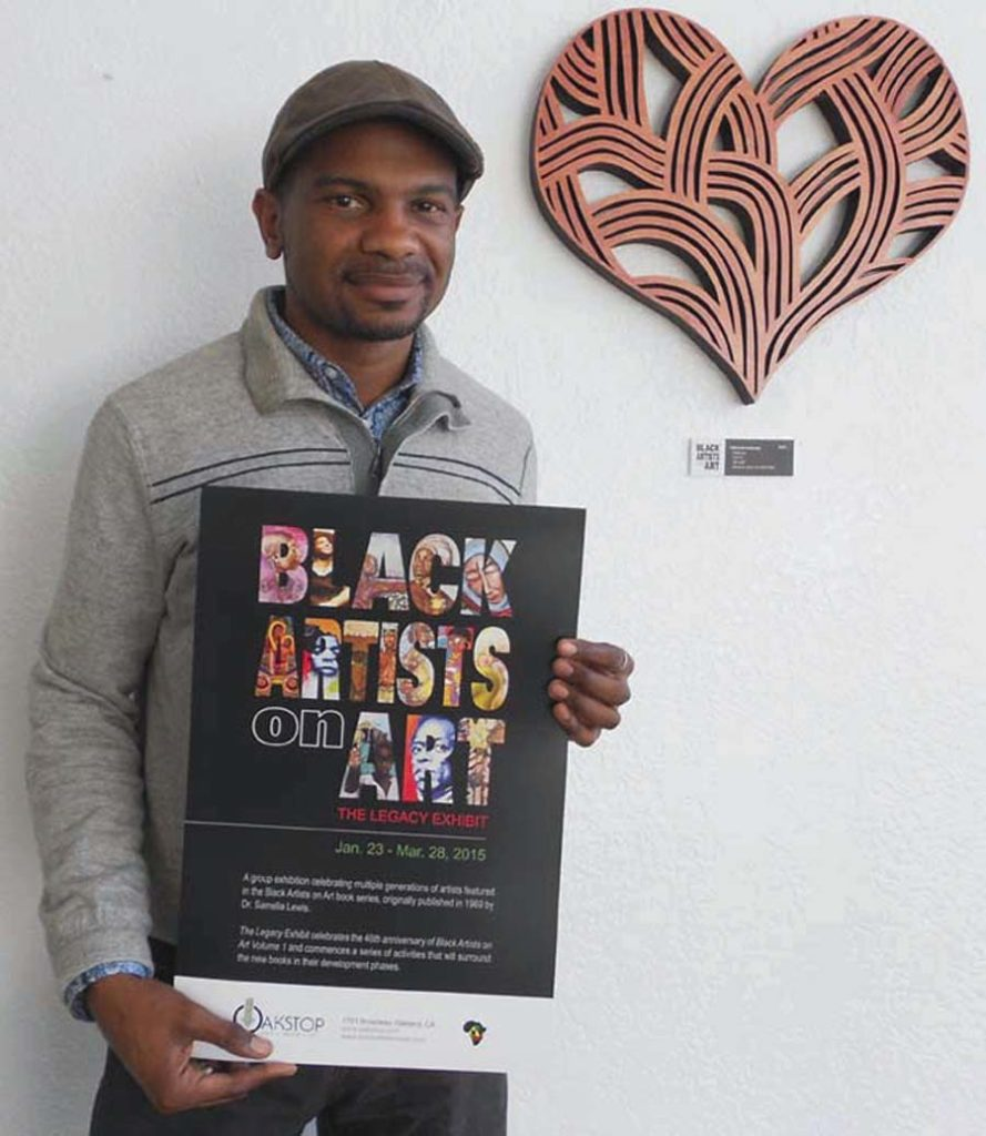 Trevor Parham, the director of Oakstop Gallery in Oakland.  Lydia Gans photo