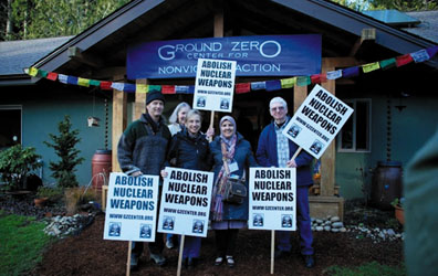 Ground Zero Center for Nonviolent Action still continues to be very active in working for the abolition of nuclear weapons.