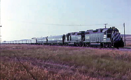 The White Train transported nuclear weapons to military bases across the nation.  Photo by Chris Guenzler