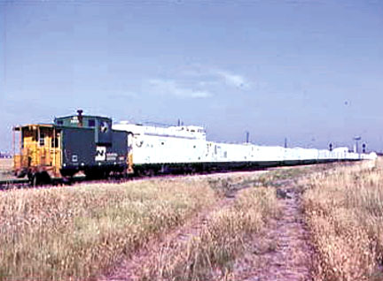 "The White Train was loaded with nuclear warheads and was described as the ""train out of hell.""Photo by Chris Guenzler"