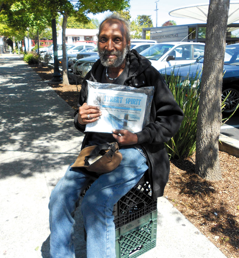 Ralph Perry's life changed for the better as a Street Spirit vendor. Lydia Gans photo
