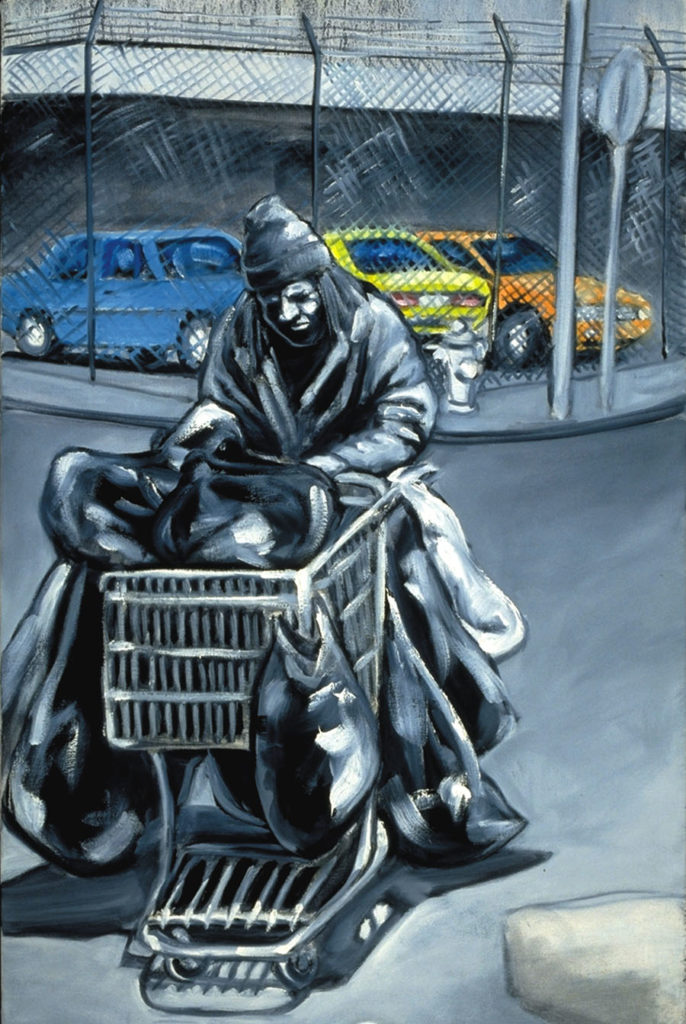 The possessions of homeless people are routinely confiscated by the police and discarded like trash. A Los Angeles ruling gives new hope to the homeless community. Art by Jonathan Burstein