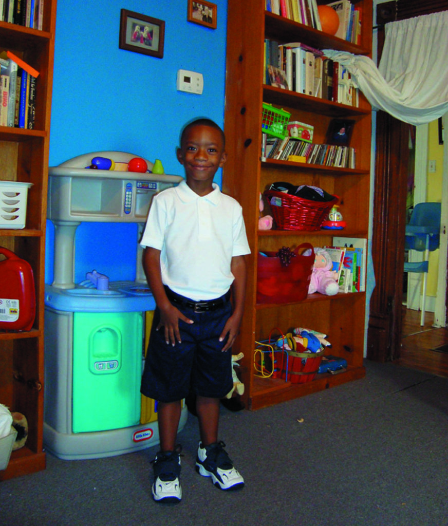 At Mary's House, Jayden prepares for his first day of kindergarten. Mary's House offers a stable home for families seeking employment and permanent housing.