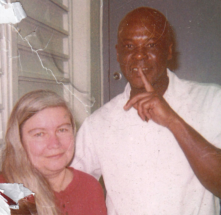 Shelley Douglass and Leroy White during a visit on Death Row at the Holman Correctional Facility in southern Alabama.