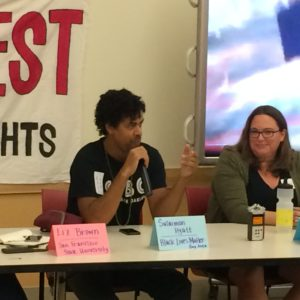 WRAP panel On Broken Windows Policing, Sept 30, 2015. Photo by Jess Clarke