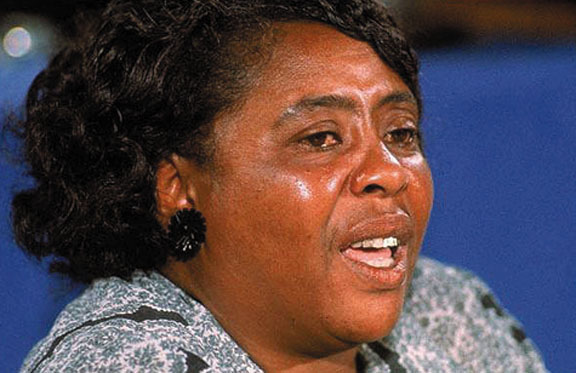 Civil rights leader Fannie Lou Hamer organized the Mississippi Freedom Democrats.