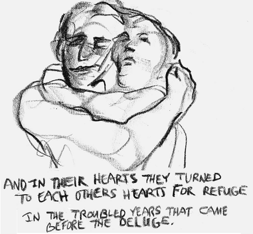 """And in their hearts they turned to each other's hearts for refuge."" Art by Joy Destefano"