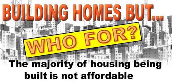 "Even when developers promise to construct ""affordable"" housing, the housing is usually not affordable to poor and homeless people."