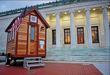The Toledo Museum of Art commissioned a Tiny House as part of its 2012 Small Worlds exhibition. Photo © Toledo Museum of Art, Andrew Weber Photography.