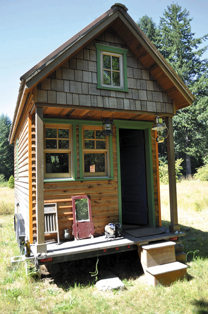 A Tiny House in Portland, Oregon — a home on wheels. Photo credit: Tammy Strobel