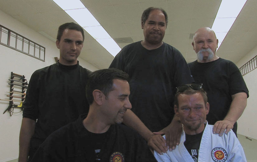 In a highly moving moment in Dogtown Redemption, Jason's peers at the Concord dojo tell him he is part of their family.
