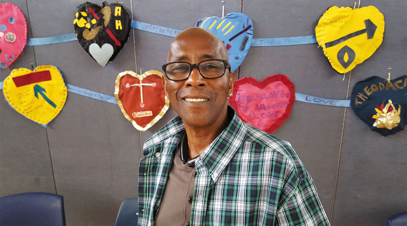 Arivnwine was a homeless recycler on the streets of Oakland before turning his life around. He now has stable housing and is a respected advocate at St. Mary's Center, serving on their Council of Elders. Lauren Kawana photo