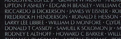 Berkeley resident Frederick H. Henderson's name is engraved on the Vietnam Veterans Memorial in Washington, D.C. Joe McDonald was stunned to learn that he was the son of his neighbor in Berkeley, and had died in Vietnam on Nov. 3, 1966.