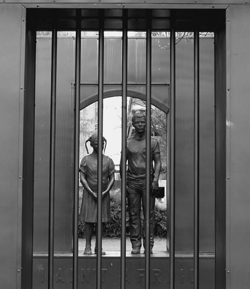 The courage that was the foundation of the civil rights movement is shown in this sculpture in a park in Birmingham, Alabama, where schoolchildren found the courage to go to jail for freedom. Terry Messman photo